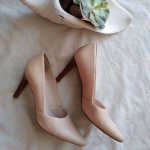 Franco Sarto , nude color heels , size 8